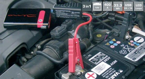 DINO KRAFTPAKET Starthilfegerät mit Powerbank 12V · 400A