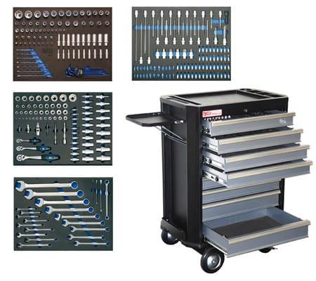 BGS Werkstattwagen 4100 komplett mit 293 Werkzeugen bei tuning-hoppe.com
