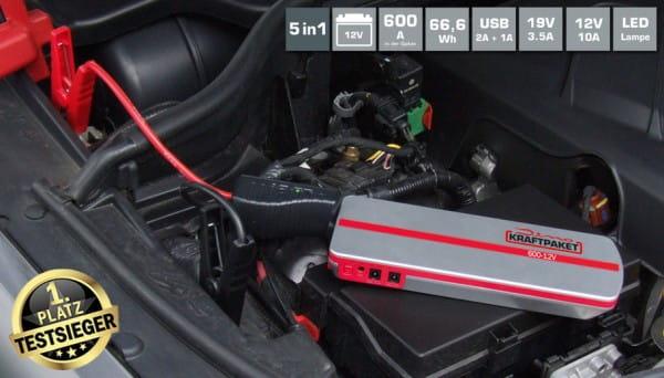 DINO KRAFTPAKET Starthilfegerät mit Powerbank 12V · 600A bei tuning-hoppe.com