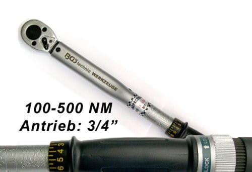 BGS Drehmomentschlüssel Werkstatt-Profi 20 (3/4) Antrieb 100-500 NM bei tuning-hoppe.com
